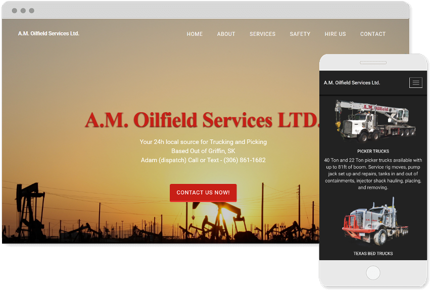 Am Oilfield Website Responsive